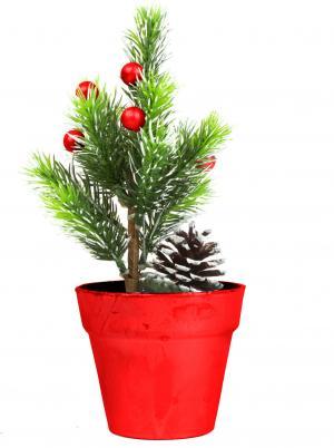 Umelý strom - mini - červený - 20 cm