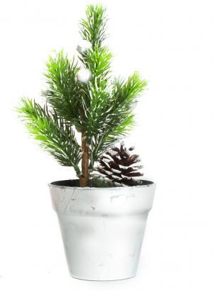 Umelý strom - mini - strieborný - 20 cm