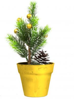 Umelý strom - mini - zlatý - 20 cm