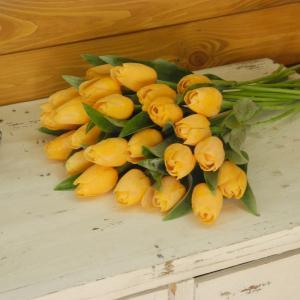 Umelý tulipán svetlo oranžový 40cm