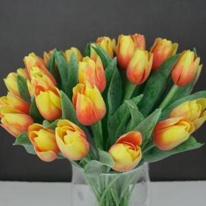 Umelý tulipán žlto-oranžový 40cm