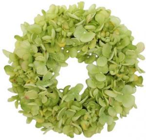 Umelý veniec Hortenzia zelená, pr. 24 cm