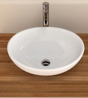Umývadlo keramické SOFIA na dosku, biele