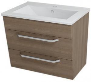 Umývadlová skrinka KALI, 59x50x45cm, orech, zásuvková