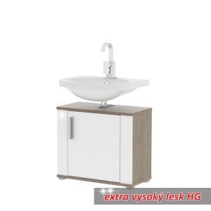 Umývadlová skrinka LESSY LI02  DUB SON/BIELA V.L