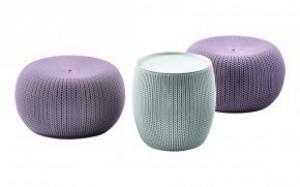URBAN KNIT (COZIES) set - fialový+šedý