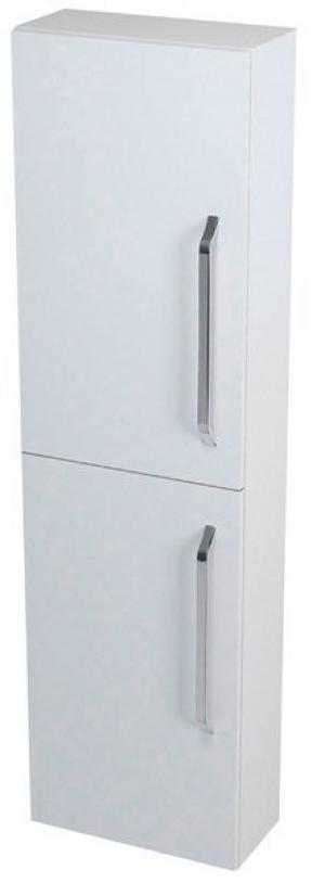 Úzka vysoká skrinka KALI, 40x140x20cm, biela - Lavá