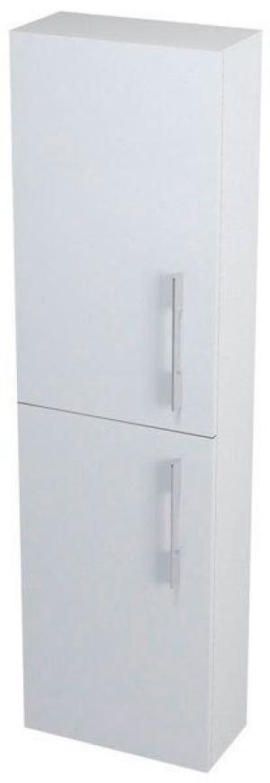 Úzka vysoká skrinka NATY, 40x140x20cm, biela - Pravá