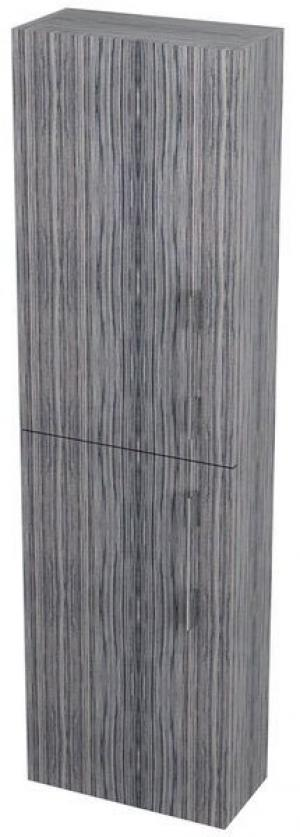 Úzka vysoká skrinka NATY, 40x140x20cm, zebrano - Lavá