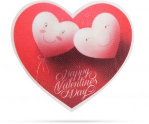 Valentínska RGB LED dekorácia - samolepiaca - srdce