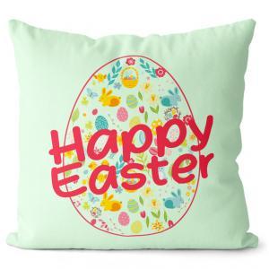 Vankúš Happy Easter (Velikost polštáře: 55 x 55 cm)