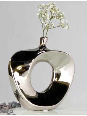 Váza keramická Apple, 37 cm, strieborná