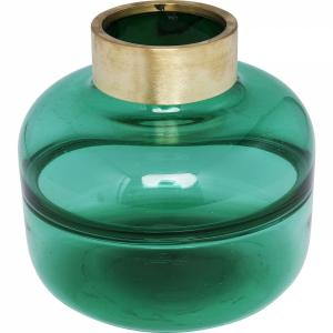 Váza Positano Belly zelená 21cm