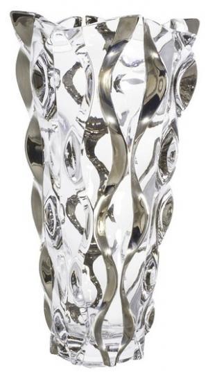 Váza Samba platina, bezolovnatý crystalite, výška 305 mm