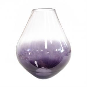 Váza sklenená Purple Barva: fialová, Velikost: 29 x 24 x 24 cm