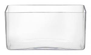 VÁZA, sklo, 15 cm - číre