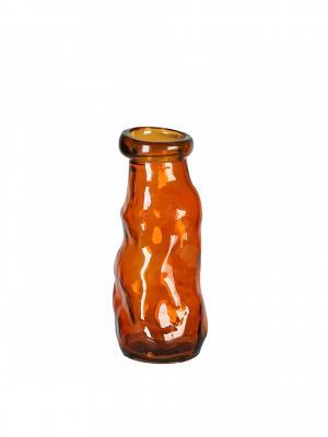 Váza z recyklovaného skla Gerona, 25 cm, oranžová