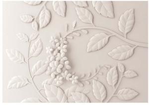 Veľkoformátová tapeta Artgeist Cream Paper Flowers, 400 x 280 cm