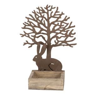 Veľkonočná dekorácie Králik pod stromom - 18*10*23 cm