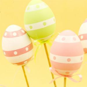 Veľkonočná vajíčka na špajli - 9 ks