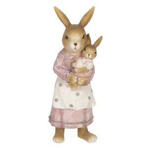 Veľkonočné dekorácie králičie mamy s zajačikom - 7 * 7 * 19 cm