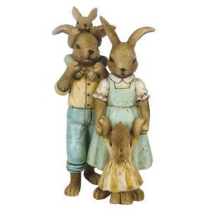 Veľkonočné dekorácie králičie rodinky - 8 * 6 * 15 cm