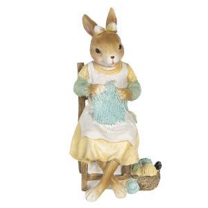 Veľkonočné dekorácie králičie slečny s pletením - 9 * 8 * 18 cm