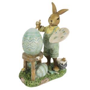 Veľkonočné dekorácie králika maliara - 11 * 7 * 15 cm