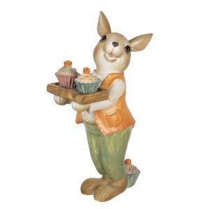 Veľkonočné dekorácie králika s muffiny - 11 * 6 * 16 cm