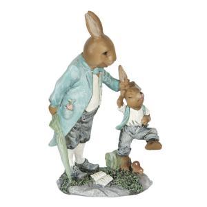 Veľkonočné dekorácie králika tahajícího králička za uši - 12 * 7 * 19 cm