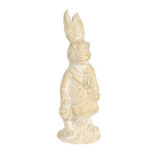 Veľkonočné dekorácie králika v krémovo-žltom prevedení métallique - 4 * 4 * 11 cm