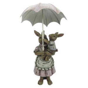 Veľkonočné dekorácie králikov pod dáždnikom - 8 * 5 * 12 cm