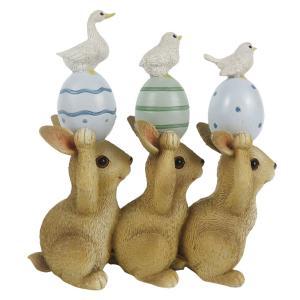 Veľkonočné dekorácie králikov s vajíčkami - 12 * 4 * 12 cm