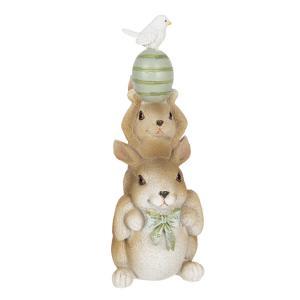 Veľkonočné dekorácie králikov s vajíčkom nad hlavou - 8 * 6 * 17 cm