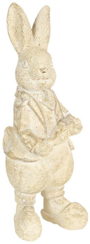 Veľkonočné dekorácie krémového králika métallique - 6 * 6 * 13 cm