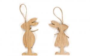 Veľkonoční drevení zajačikovia - 6 ks Varianta: 2