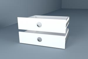 VerDesign, DRAWERS, biely diamant