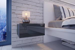 VerDesign, MOLI nočný stolík, šedá
