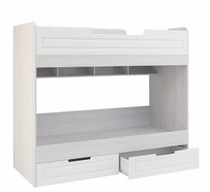 VerDesign, PRAHA KIDS poschodová posteľ, biele drevo