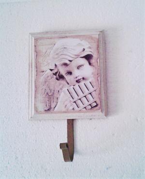 vešiak s anjelom 13 x 22 cm