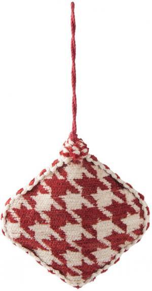 Vianočná červená textilné ozdoba kočotverec - 11 * 3 * 11 cm