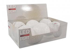 Vianočná LED dekorácia 15cm guľa