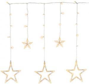 Vianočná LED reťaz - hviezdy, 0,6 m, 61 LED, teple biele