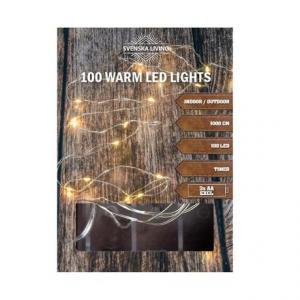 Vianočná svetelná reťaz 100LED 10m s časovačom