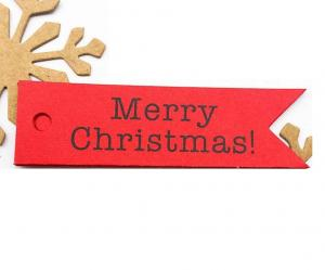 Vianočné darčekové štítky 100 ks Farba: červená