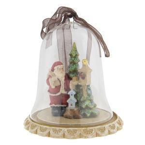 Vianočné dekorácie Santa vo zvončeku - Ø 8 * 8 cm