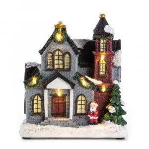 Vianočné dekorácie svietiace kostol