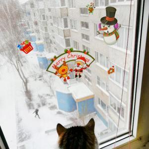 Vianočné dekoračné samolepky Varianta: 2