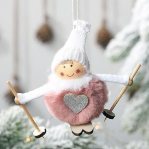 Vianočné dekoratívne figúrka Farba: ružová