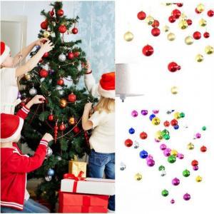 Vianočné gule glitrové 12 ks Farba: žltá
